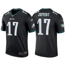 Philadelphia Eagles #17 Alshon Jeffery Black Color Rush Legend Jersey