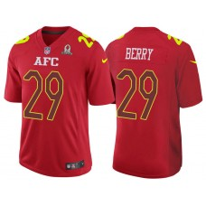 2017 Pro Bowl AFC Eric Berry Red Game Jersey