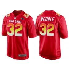 2018 Pro Bowl AFC Baltimore Ravens #32 Eric Weddle Red Game Jersey