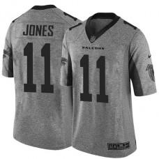 Atlanta Falcons #11 Julio Jones Gridiron Gray Limited Jersey