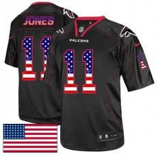 Atlanta Falcons #11 Julio Jones Black USA Flag Fashion Jersey