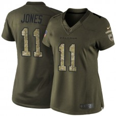 Women's Atlanta Falcons #11 Julio Jones Green Salute To Service Limited Jersey