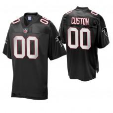 Atlanta Falcons Black Vintage Replica Customized Jersey