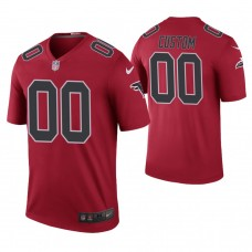 Atlanta Falcons Red Color Rush Legend Customized Jersey