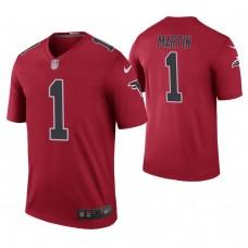 Atlanta Falcons #1 David Martin Red Color Rush Legend Jersey