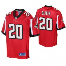 Youth Atlanta Falcons #20 Isaiah Oliver Red Player Pro Line Jersey