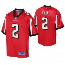 Youth Atlanta Falcons #2 Matt Ryan Red Player Pro Line Jersey