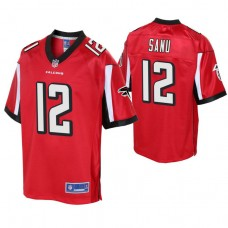 Youth Atlanta Falcons #12 Mohamed Sanu Red Player Pro Line Jersey