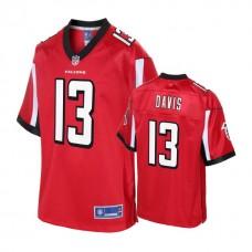 Youth Atlanta Falcons #13 Reggie Davis Red Player Jersey