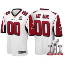 2017 Super Bowl LI Atlanta Falcons White Game Customized Jersey