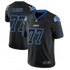 Detroit Lions #77 Frank Ragnow 2018 Lights Out Color Rush Limited Black Jersey