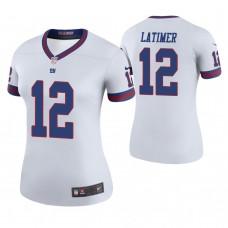 Women's New York Giants #12 Cody Latimer White Color Rush Legend Jersey
