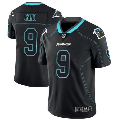 Carolina Panthers #9 Graham Gano 2018 Lights Out Color Rush Limited Black Jersey