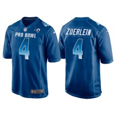 2018 Pro Bowl NFC Los Angeles Rams #4 Greg Zuerlein Royal Game Jersey