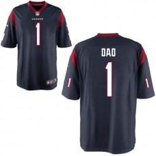 Houston Texans Navy #1 Dad Jersey - Father's Day