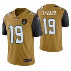 Jacksonville Jaguars #19 Allen Lazard Gold Vapor Untouchable Color Rush Limited Player Jersey