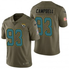 Jacksonville Jaguars #93 Calais Campbell Olive 2017 Salute to Service Limited Jersey