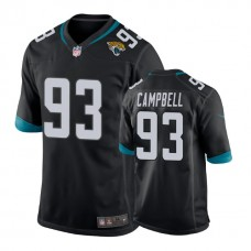 Jacksonville Jaguars #93 Calais Campbell Black New 2018 Game Jersey