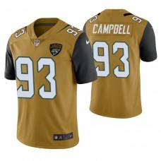 Jacksonville Jaguars #93 Calais Campbell Gold Vapor Untouchable Color Rush Limited Player Jersey