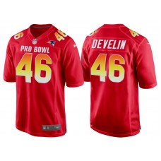 2018 Pro Bowl AFC New England Patriots #46 James Develin Red Game Jersey