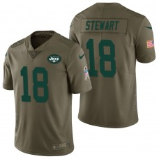 New York Jets #18 ArDarius Stewart Olive 2017 Salute to Service Limited Jersey
