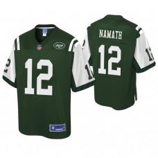 Youth New York Jets #12 Joe Namath Pro Line Green Jersey