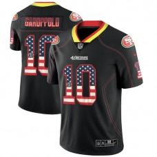 San Francisco 49ers #10 Jimmy Garoppolo Black 2018 USA Flag Fashion Color Rush Limited Jersey