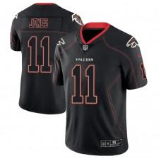 Atlanta Falcons #11 Julio Jones 2018 Lights Out Color Rush Limited Black Jersey