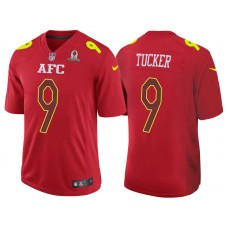 2017 Pro Bowl AFC Justin Tucker Red Game Jersey