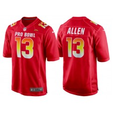 2018 Pro Bowl AFC Los Angeles Chargers #13 Keenan Allen Red Game Jersey