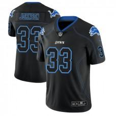 Detroit Lions #33 Kerryon Johnson 2018 Lights Out Color Rush Limited Black Jersey