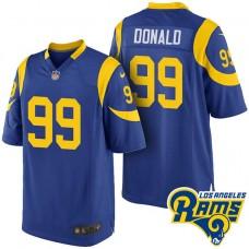 Los Angeles Rams #99 Aaron Donald Blue Throwback Elite Jersey