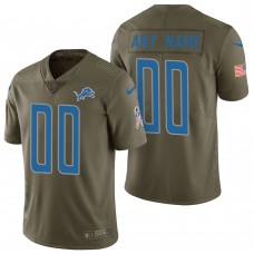Detroit Lions Olive 2017 Salute to Service Limited Customized Jersey