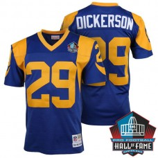 Hall Of Fame Los Angeles Rams #29 Eric Dickerson Blue Retired Player Throwback Jersey