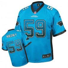 Carolina Panthers #59 Luke Kuechly Blue Drift Fashion Jersey