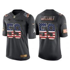 Carolina Panthers #59 Luke Kuechly Anthracite Salute to Service USA Flag Fashion Jersey