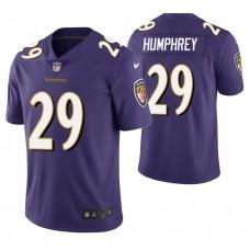 Baltimore Ravens #29 Marlon Humphrey Purple Vapor Untouchable Limited Jersey