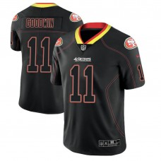 San Francisco 49ers #11 Marquise Goodwin 2018 Lights Out Color Rush Limited Black Jersey