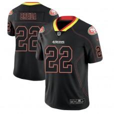 San Francisco 49ers #22 Matt Breida 2018 Lights Out Color Rush Limited Black Jersey