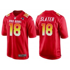 2018 Pro Bowl AFC New England Patriots #18 Matthew Slater Red Game Jersey