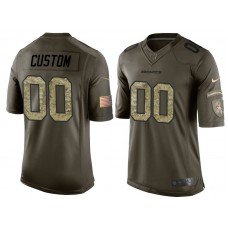 Denver Broncos Olive Camo Salute to Service Customized Jersey