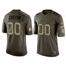 Kansas City Chiefs Olive Camo Salute to Service Veterans Day Customized Jersey