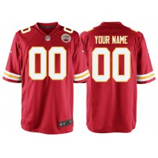 Kansas City Chiefs Red Game Customized Jersey