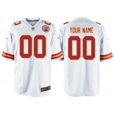 Kansas City Chiefs White Game Customized Jersey