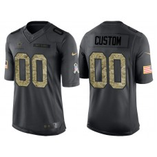 Dallas Cowboys Anthracite Camo 2016 Salute to Service Customized Jersey