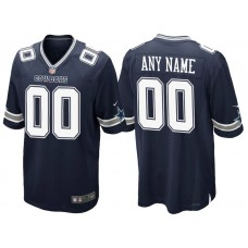 Dallas Cowboys Navy Game Customized Jersey