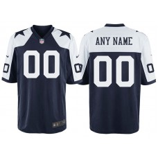 Dallas Cowboys Navy Throwback Game Customized Jersey