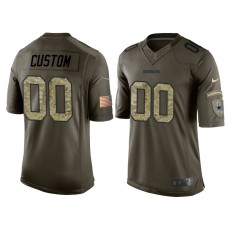 Dallas Cowboys Olive Camo Salute to Service Customized Jersey