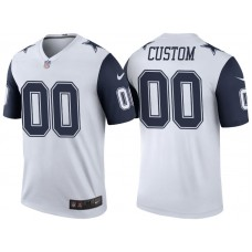 Dallas Cowboys White Color Rush Legend Customized Jersey