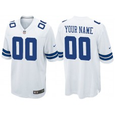 Dallas Cowboys White Game Customized Jersey